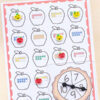 Differentiated apple spin and cover number sense games for numbers 1-10.