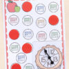 Fall apples number sense activity for numbers 11-20.