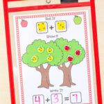 Apple Addition Mats Math Activity
