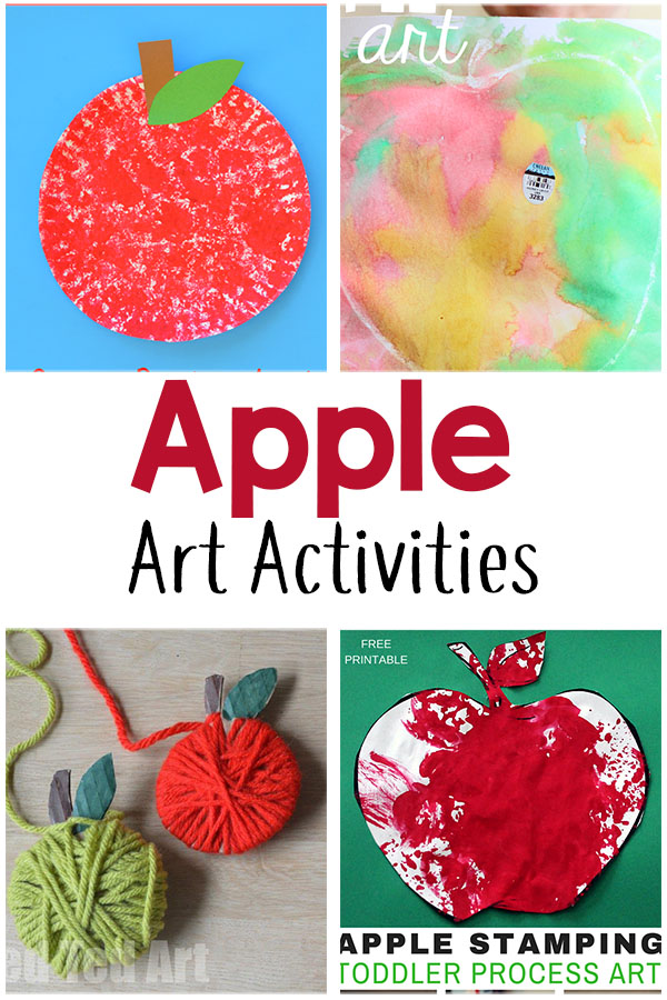 Apple theme art and craft activities for preschool.