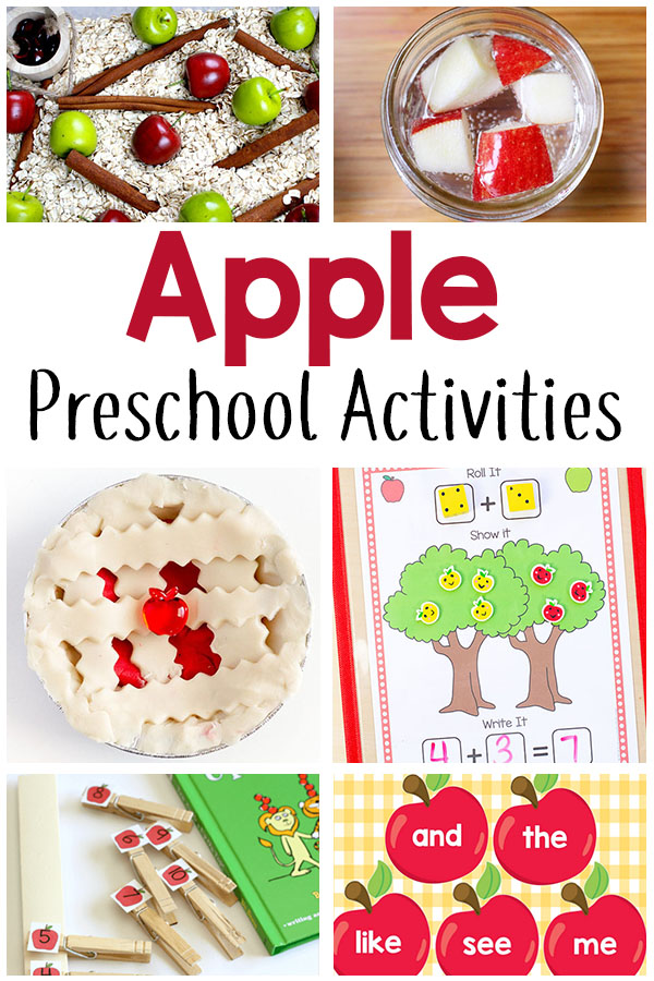 These preschool apple theme activities are perfect for your fall lesson plans. There are apple activities for literacy, math, sensory, science and art!