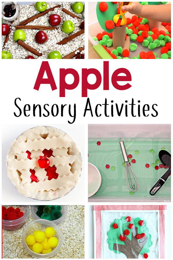 These apple theme sensory activities will make learning fun and playful this fall.