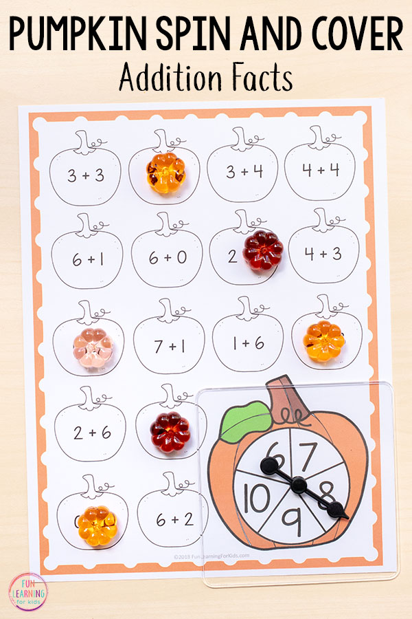 You are going to love the differentiation offered in these pumpkin math centers that teach addition.