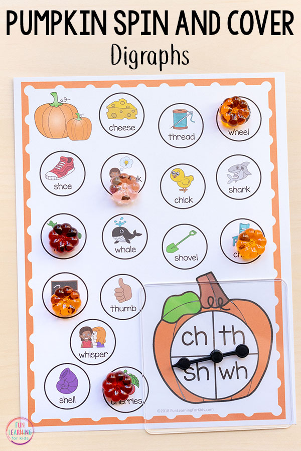 Pumpkin differentiated literacy centers for kindergarten and first grade.