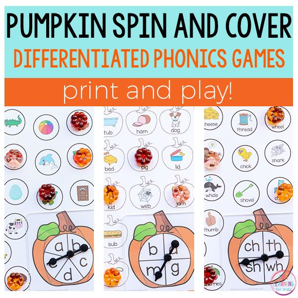 Pumpkin Spin and Cover Literacy