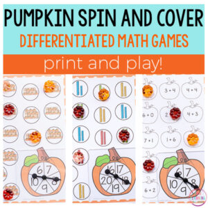 Pumpkin Spin and Cover Math Square Image