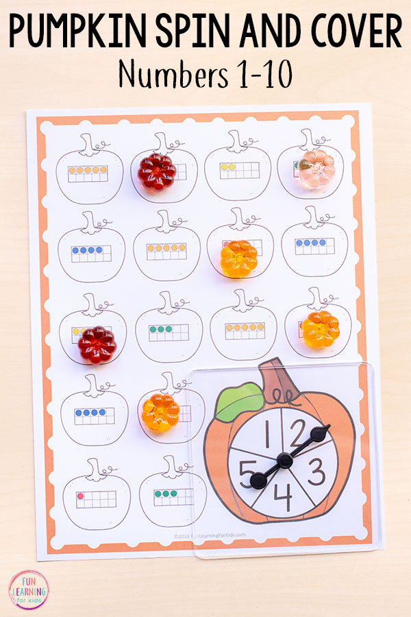 Fun differentiated math centers for your pumpkin theme!