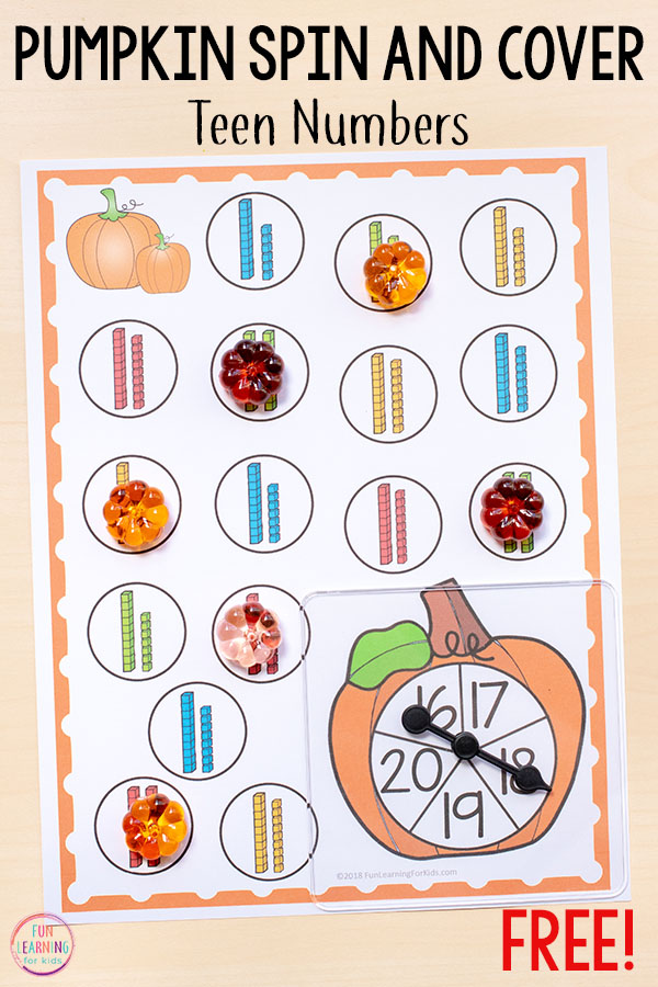 Differentiated Pumpkin Theme Spin And Cover Math And Literacy Activities