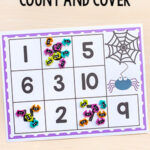 Spider Count and Cover Math Activity
