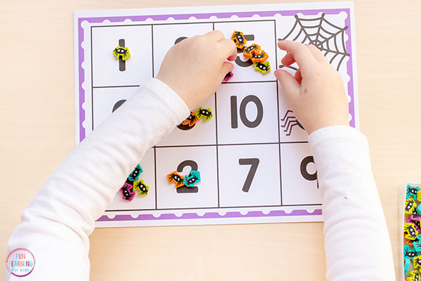 Make math hands-on with this fun spider counting activity for preschoolers and kindergarten students.