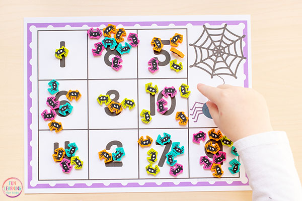 Make math fun with this spider math activity that is perfect for Halloween or your creepy crawly theme.