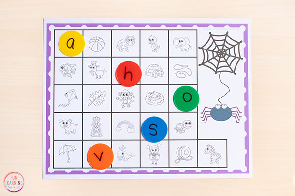 The kids love this fun way to learn the alphabet while doing a spider theme.