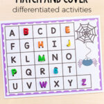 Spider Match and Cover the Alphabet