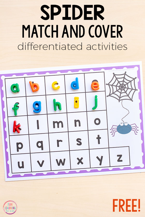 This spider alphabet activity is perfect for your literacy or alphabet centers.