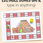 Editable Gingerbread Board Game