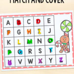 Gingerbread Match and Cover the Alphabet