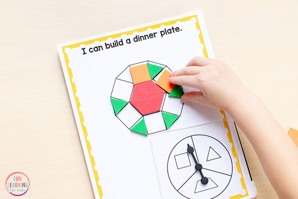 Pattern block mats for Thanksgiving. A fun Thanksgiving math activity.