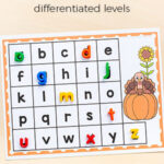 Thanksgiving Turkey Match and Cover the Alphabet