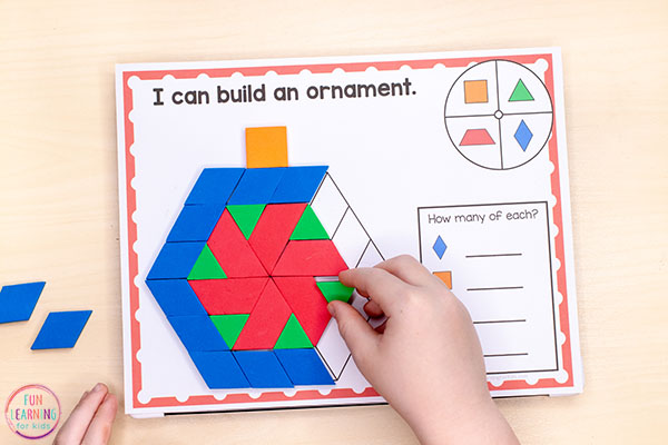 The kids will love this fun pattern block activity!
