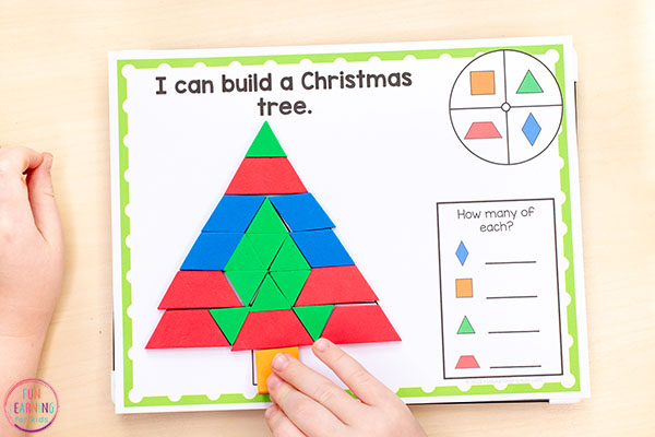 Explore shapes with this fun Christmas pattern block activity.