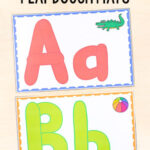FREE Printable Alphabet Play Dough Mats