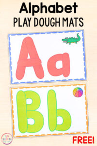 These alphabet play dough mats make learning letters fun while developing fine motor skills.