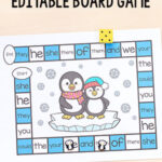 Editable Penguin Board Game