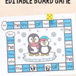 Editable Penguin Board Game