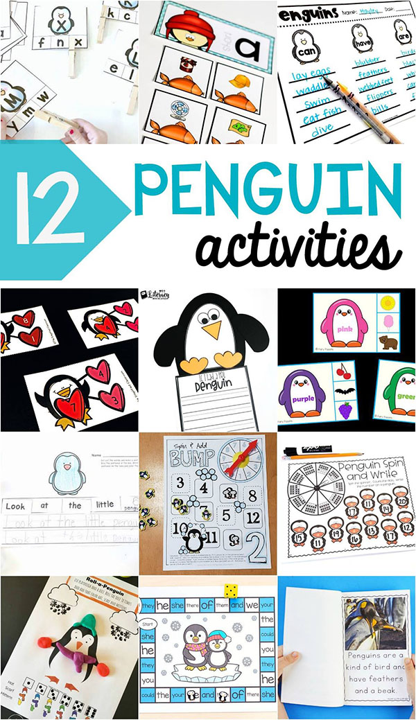 Lots of awesome penguin activities and printables!