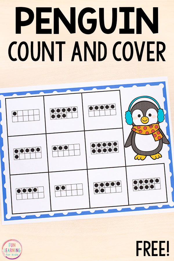 Develop number sense and practice counting with this winter math activity.