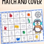 Penguin Match and Cover the Alphabet