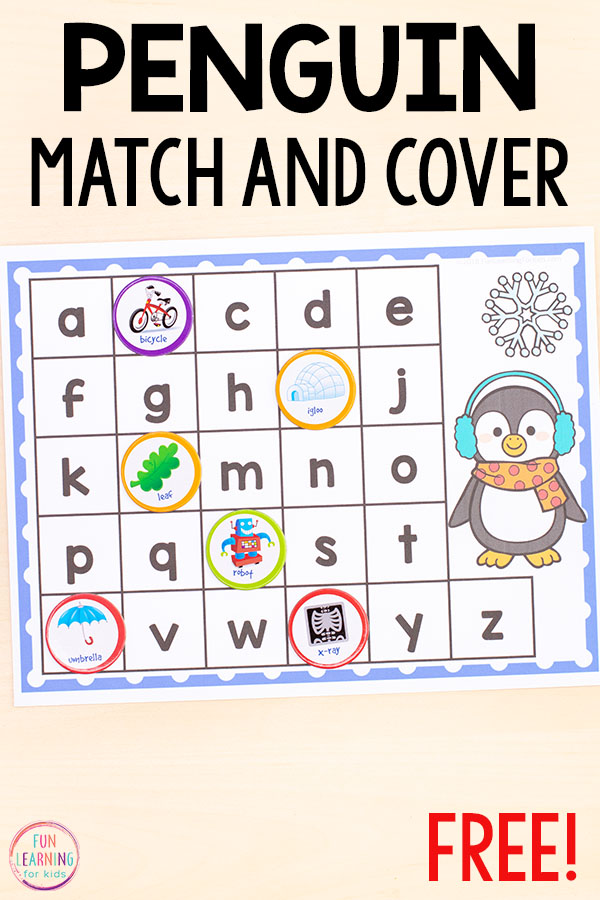 Teach letter identification and letter sounds with these fun winter literacy centers.
