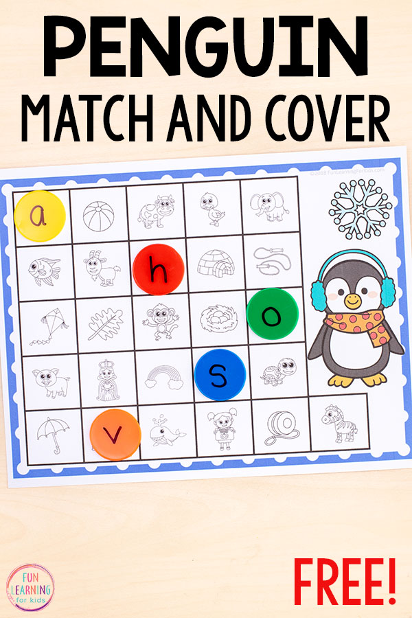 A fun, print and play winter alphabet activity.