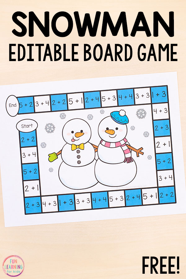 Use this winter activity to teach numbers, math facts , number sense, and more!