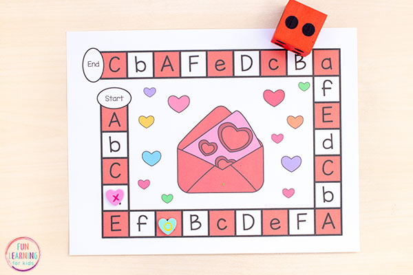 Teaching the alphabet and letter sounds with a fun editable game.