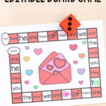 Editable Valentine's Day Board Game
