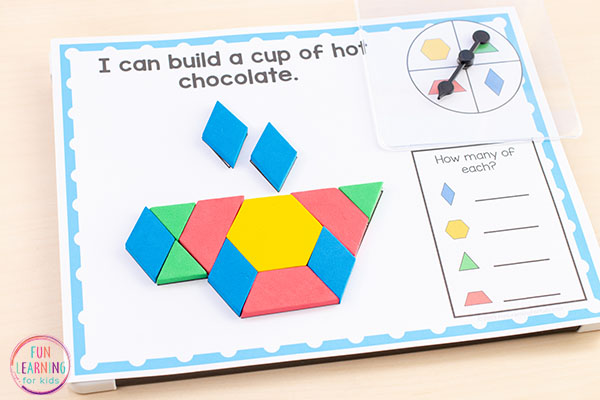 A winter math activity for winter math centers.