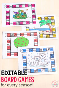 These editable board games make it so easy to differentiate instruction while engaging the kids with lots of fun!