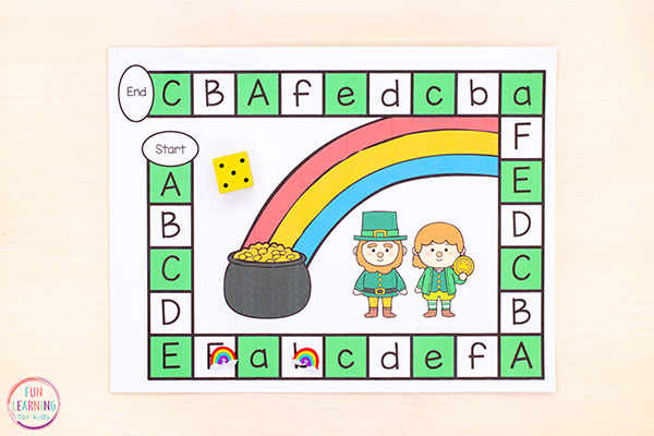 Editable activity for St. Patrick's Day. Work on any letters or letter sounds you want!
