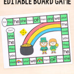Editable St. Patrick's Day Board Game