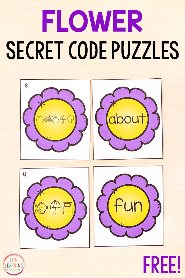 These flower editable puzzles are so much fun and perfect for kids in preschool, kindergarten and first grade.