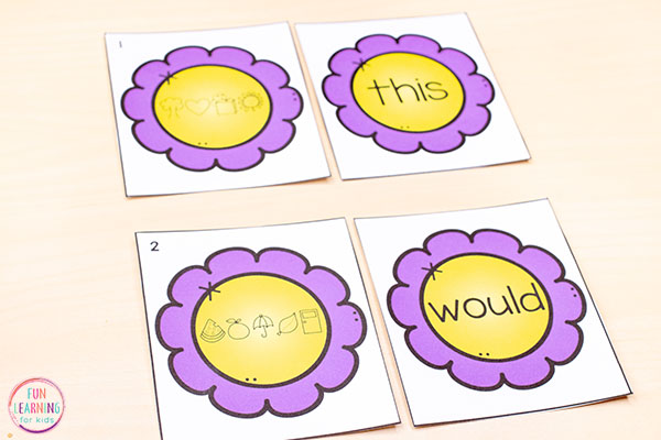 These spring flower puzzles are editable and perfect for literacy centers!