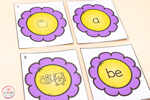 Use editable matching puzzles to teach the alphabet, letters, letter sounds and words.