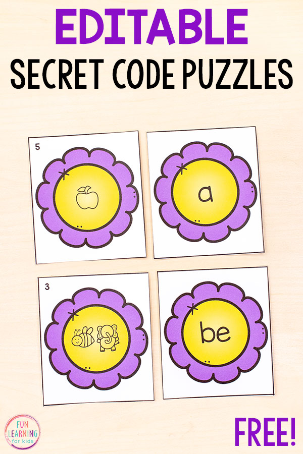 Teach letters, letter sounds and more with fun editable puzzles!