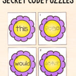 Flower Secret Code Matching Puzzles Printable