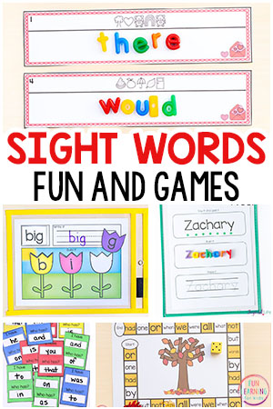 Fun sight word games for kids in kindergarten, first grade and second grade. These sight word games are editable and easy to differentiate!