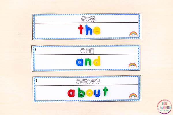 This editable sight word activity is perfect for literacy centers.