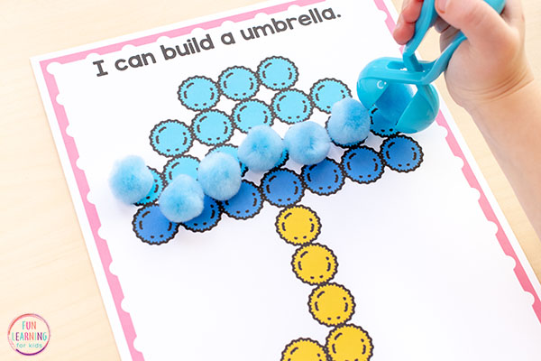 A fun fine motor activity for spring!