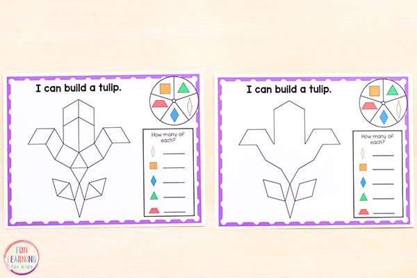 These differentiated spring patter block mats are great for all different levels.