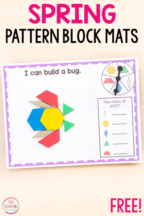 These spring pattern block mats are perfect for lots of spring themes!